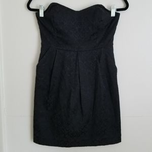 UO Silence + Noise Strapless Brocade Mini Dress